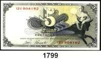 P A P I E R G E L D,BUNDESREPUBLIK DEUTSCHLAND  5 Deutsche Mark 9.12.1948.  12 V.  Ros. BRD-1 e.
