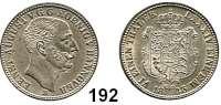 Deutsche Münzen und Medaillen,Braunschweig - Calenberg (Hannover) Ernst August 1837 - 1851 1/6 Taler 1845 B.  AKS 111.  Jg. 61.