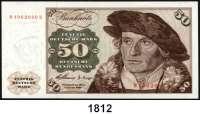 P A P I E R G E L D,BUNDESREPUBLIK DEUTSCHLAND  50 Deutsche Mark 2.1.1960.  M...H.  Ros. BRD-9 c.
