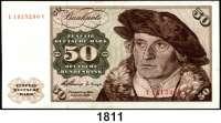 P A P I E R G E L D,BUNDESREPUBLIK DEUTSCHLAND  50 Deutsche Mark 2.1.1960.  L...Y.  Ros. BRD-9 b.
