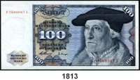 P A P I E R G E L D,BUNDESREPUBLIK DEUTSCHLAND  100 Deutsche Mark 2.1.1960.  P...J.  Ros. BRD-10.b.