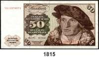 P A P I E R G E L D,BUNDESREPUBLIK DEUTSCHLAND  50 Deutsche Mark 2.1.1970.  YK...A.  Austauschnote.  Ros. BRD-16 c.