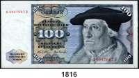 P A P I E R G E L D,BUNDESREPUBLIK DEUTSCHLAND  100 Deutsche Mark 2.1.1970.  Q...B.  Ros. BRD-17 a.