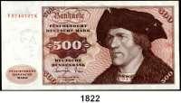 P A P I E R G E L D,BUNDESREPUBLIK DEUTSCHLAND  500 Deutsche Mark 1.6.1977.  V...K.  Ros. BRD-23 a.