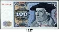 P A P I E R G E L D,BUNDESREPUBLIK DEUTSCHLAND  100 Deutsche Mark 2.1.1980.  NM...E.  Ros. BRD-33 a.