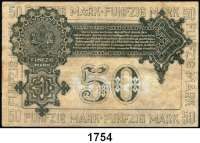 P A P I E R G E L D,Militärgeld Freiwillige Westarmee 50 Mark 1919.  Mit Prägestempel.  Ros. MIL-4.  Pick S 230.