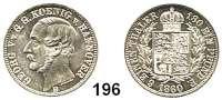 Deutsche Münzen und Medaillen,Braunschweig - Calenberg (Hannover) Georg V. 1851 - 1866 1/6 Taler 1860 B.  AKS 145.  Jg. 95.