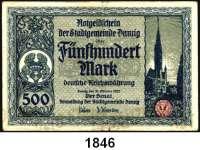 P A P I E R G E L D,D A N Z I G  500 Mark 31.10.1922.  Ros. DAN-17.