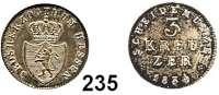 Deutsche Münzen und Medaillen,Hessen - Darmstadt Ludwig II. 1830 - 1848 3 Kreuzer 1834.  AKS 111.  Jg. 31.