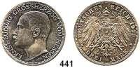 R E I C H S M Ü N Z E N,Hessen, Großherzogtum Ernst Ludwig 1892 - 1918 3 Mark 1910.