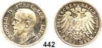 R E I C H S M Ü N Z E N,Lippe (-Detmold) Leopold IV. 1904 - 1918 2 Mark 1906.