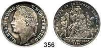 Deutsche Münzen und Medaillen,Württemberg, Königreich Wilhelm I. 1816 - 1864 Gulden 1841.  25jähriges Regierungsjubiläum.  AKS 123.  Jg. 74.