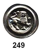 Deutsche Münzen und Medaillen,Lüneburg, Herzoglich Welfische Münzstätte Heinrich der Lange 1195 - 1227 Brakteat.  0,53 g.  Löwe nach rechts, davor Ringel mit Kugel.  Slg. Bonhoff 102.