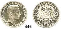 R E I C H S M Ü N Z E N,Mecklenburg - Schwerin Friedrich Franz IV. 1897 - 1918 2 Mark 1901.  Regierungsantritt.