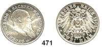 R E I C H S M Ü N Z E N,Sachsen - Meiningen Georg II. 1866 - 1914 2 Mark 1901.  75. Geburtstag.