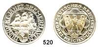 R E I C H S M Ü N Z E N,Weimarer Republik  3 Reichsmark 1927 A.  Bremerhaven.