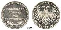 Deutsche Münzen und Medaillen,Frankfurt am Main Freie Stadt 1814 - 1866 Doppelgulden 1848.  Erzherzog Johann von Österreich.  Kahnt 176 a.  Thun 135.  AKS 39.  Jg. 46.  Dav. 644.