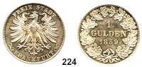 Deutsche Münzen und Medaillen,Frankfurt am Main Seit 1866 1 Gulden 1859.  AKS 13.  Jg. 33.