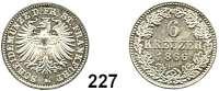 Deutsche Münzen und Medaillen,Frankfurt am Main Seit 1866 6 Kreuzer 1866.  AKS 21.  Jg. 36.