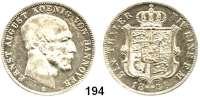 Deutsche Münzen und Medaillen,Braunschweig - Calenberg (Hannover) Ernst August 1837 - 1851 Taler 1849 B.  Kahnt 234.  Thun :167.  AKS 107.  Jg. 79.  Dav. 675.
