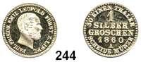 Deutsche Münzen und Medaillen,Lippe Paul Friedrich Emil Leopold 1851 - 1875 1 Silbergroschen 1860 A.  AKS 18.  Jg. 14.