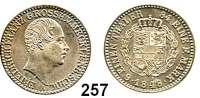 Deutsche Münzen und Medaillen,Mecklenburg - Schwerin Friedrich Franz II. 1842 - 1883 1/6 Taler 1848 A.  AKS 40.  Jg. 54.