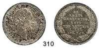 Deutsche Münzen und Medaillen,Sachsen Friedrich August II. 1836 - 1854 1/3 Sterbe-Taler 1854.  AKS 119.  Jg. 93.