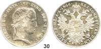 Österreich - Ungarn,Habsburg - Lothringen Ferdinand I., 1835 - 1848 Taler 1846 A, Wien.  Frühwald 773.  Jl. 246.  Kahnt 345.  Dav. 14.