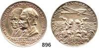 M E D A I L L E N,Luftfahrt - Raumfahrt Flugzeuge Silbermedaille 1928 (K. Goetz).  Auf den Ost-West-Ozeanflug der
