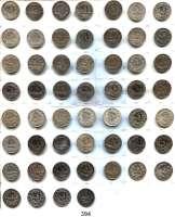 R E I C H S M Ü N Z E N,Kleinmünzen  1/2 Mark 1905 A bis 1919 A.  LOT 53 Stück.
