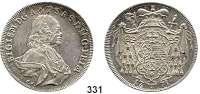 Deutsche Münzen und Medaillen,Salzburg, Erzbistum Sigismund III. von Schrattenbach 1753 - 1771 Taler 1771 FM.  28,03 g.  Probszt 2299.  Zöttl 3011.  Dav. 1261.