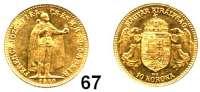 Österreich - Ungarn,Habsburg - Lothringen Franz Josef I. 1848 - 1916 10 Kronen 1910 KB, Kremnitz. (3,05g fein).  Frühwald 2100.  Jl. 408.  Huszár 2200.  KM 485.  Fb. 252.  GOLD.