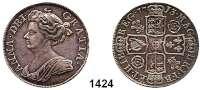 AUSLÄNDISCHE MÜNZEN,Großbritannien Anna 1702 - 1714 Half Crown 1713.  15,07 g.  Spink 3607.  KM 525.4.