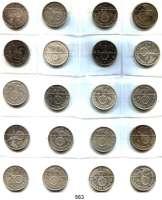 R E I C H S M Ü N Z E N,Drittes Reich  5 Reichsmark 1936 bis 1939.  LOT 20 Stück.