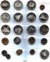 AUSLÄNDISCHE MÜNZEN,Kanada LOTS     LOTS     LOTS Silber-Gedenkdollar 1964, 67, 81, 82, 85, 86, 87, 88, 89, 90, 91, 92 und 10 moderne Kleinmünzen.  LOT 22 Stück.