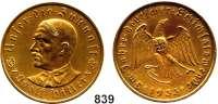 M E D A I L L E N,Personen Hitler, Adolf Bronzemedaille 1933 (Oskar Glöckler).  Auf die Machtergreifung.  Brustbild von vorn links. / Adler sprengt Ketten.  Colbert / Hyder C-30.  36 mm.  21,96 g. Rand: BAYER. HAUPTMÜNZAMT.