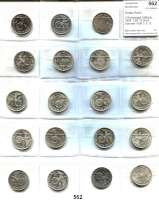 R E I C H S M Ü N Z E N,Drittes Reich  2 Reichsmark 1936 bis 1939.  LOT 19 Stück.  Darunter 1936 D, E, G; 1939 E.