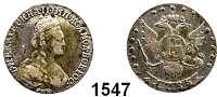 AUSLÄNDISCHE MÜNZEN,Russland Katharina II. 1762 - 1796 15 Kopeken 1785, St. Petersburg.  3,32 g,  Bitkin 444.  Craig 62 c.