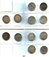 R E I C H S M Ü N Z E N,Drittes Reich  5 Reichsmark 1934 und 1935.  Kirche ohne Datum  LOT 12 Stück.