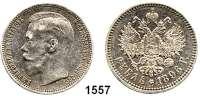 AUSLÄNDISCHE MÜNZEN,Russland Nikolaus II. 1894 - 1917 Rubel 1896, Paris.  Mzz. Stern.  Bitkin 193.  Kahnt/Schön 147.  Y 59.2.
