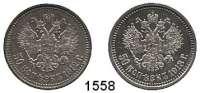 AUSLÄNDISCHE MÜNZEN,Russland Nikolaus II. 1894 - 1917 50 Kopeken 1912 und 1913 BC.  Bitkin 91 und 93.  Schön 12.  Y. 58,2  LOT 2 Stück.