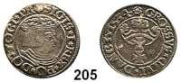 Deutsche Münzen und Medaillen,Danzig, Stadt Sigismund I. 1506 - 1548 Groschen 1534 und 1535.  Dutkowski/Suchanek 57 IVa und 58 c.  LOT 2 Stück.