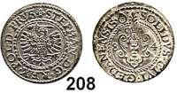 Deutsche Münzen und Medaillen,Danzig, Stadt Stephan Báthory 1577 - 1586 Schilling 1584.  1,15 g.  Dutkowski/Suchanek 128 V.