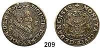 Deutsche Münzen und Medaillen,Danzig, Stadt Sigismund III. 1587 - 1632 Ort (1/4 Taler) 1623.  6,97 g.  Dutkowski/Suchanek 167 a.