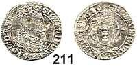 Deutsche Münzen und Medaillen,Danzig, Stadt Sigismund III. 1587 - 1632 Groschen 1626.  0,93 g.  Dutkowski/Suchanek 150 III (POL:D:R:PR.).