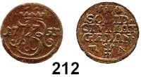 Deutsche Münzen und Medaillen,Danzig, Stadt August III. 1733 - 1763 Schilling 1753 W-R.  0,55 g.  Dutkowski/Suchanek 400.  Kahnt 740.