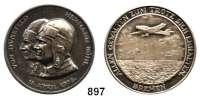 M E D A I L L E N,Luftfahrt - Raumfahrt Flugzeuge Silbermedaille 1928 (unsigniert).  Auf den Ost-West-Ozeanflug der