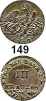 Deutsche Münzen und Medaillen,Preußen, Königreich Friedrich Wilhelm III. 1797 - 1840 3 Kreuzer 1802 B, Bayreuth.  Prägung für Ansbach-Bayreuth.  Old. 161 a.  Jg. 206 e (jedoch