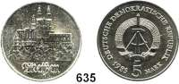 Deutsche Demokratische Republik,  5 Mark 1983.  Meißen.