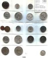 AUSLÄNDISCHE MÜNZEN,Bulgarien L O T S      L O T S      L O T S LOT von 19 Münzen zwischen 1881 und 1943.  Darunter 6 Silbermünzen u.a. 1 Lev 1891, 1910; 2 Leva 1891, 1910.